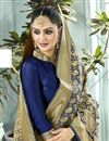 photo of Party Style Navy Blue Traditional Art Silk Weaving Work Fancy Saree