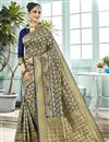 image of Party Style Navy Blue Traditional Art Silk Weaving Work Fancy Saree