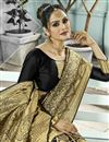 photo of Art Silk Function Wear Traditional Fancy Weaving Work Saree In Black