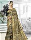 image of Art Silk Function Wear Traditional Fancy Weaving Work Saree In Black