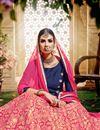 photo of Gorgeous Pink Color Banarasi And Jacquard Sharara Top Lehenga With Beautiful Work