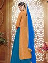photo of Blue Color Marvelous Silk Fabric Sharara Top Lehenga With Fancy Work