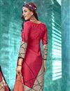 photo of Printed Crepe Fabric Office Wear Pink Color Salwar Kameez