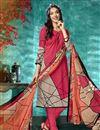 image of Printed Crepe Fabric Office Wear Pink Color Salwar Kameez