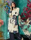 image of Off White Color Crepe Fabric Fancy Printed Salwar Kameez