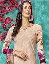 photo of Crepe Fabric Printed Daily Wear Chikoo Color Salwar Kameez
