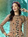 photo of Casual Wear Printed Salwar Kameez In Crepe Fabric Dark Beige Color