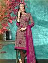 image of Burgundy Color Daily Wear Printed Salwar Suit In Crepe Fabric