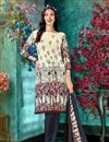 image of Crepe Fabric Beige Color Fancy Printed Daily Wear Salwar Suit