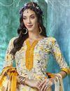 photo of Crepe Fabric Beige Color Printed Fancy Casual Wear Salwar Suit