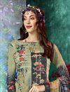 photo of Dark Beige Color Daily Wear Printed Salwar Suit In Crepe Fabric