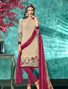 image of Crepe Fabric Cream Color Office Wear Printed Salwar Suit