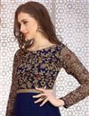 photo of Gorgeous Blue Color Georgette Party Wear Designer Anarkali Suit With Embroidery