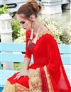 photo of Red Color Festive Wear Embroidered Designer Saree In Chiffon And Net Fabric