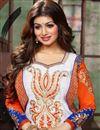 photo of Ayesha Takia Designer Off White Color Straight Cut Bhagalpuri Salwar Kameez
