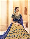 photo of Cream Color Designer Wedding Wear Lehenga In Net Fabric With Beautiful Embroidery Work With Attractive Blouse