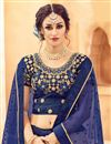picture of Cream Color Designer Wedding Wear Lehenga In Net Fabric With Beautiful Embroidery Work With Attractive Blouse