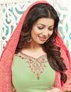 photo of Ayesha Takia Green Color Long Length Party Wear Georgette Salwar Kameez