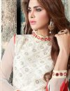 photo of Off White Color Straight Cut Net Fabric Designer Salwar Suit