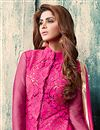 photo of Net And Georgette Fabric Designer Salwar Suit in Pink And Beige Color