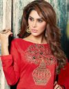 photo of Party Wear Georgette And Net Fabric Designer Palazzo Salwar Suit in Red Color