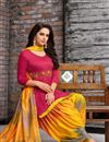 photo of Embroidered Fancy Patiala Dress In Art Silk Red Color