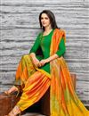 photo of Embroidered Fancy Patiala Dress In Art Silk Green Color