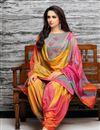 photo of Art Silk Grey Fancy Patiala Dress With Embroidery