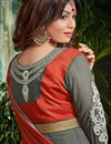 picture of Ayesha Takia Grey Color Floor Length Anarkali Salwar Suit in Georgette Fabric
