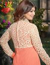 photo of Ayesha Takia Peach Color Georgette Anarkali Salwar Kameez with Embroidery