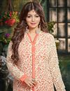 picture of Ayesha Takia Peach Color Georgette Anarkali Salwar Kameez with Embroidery