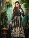 image of Designer Black Color Floor Length Georgette Anarkali Salwar Suit Featuring Ayesha Takia