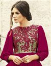 photo of Evening Party Wear Georgette Fabric Designer Gown in Pink Color