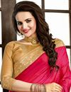 photo of Designer Silk Saree with Embroidery in Pink Color