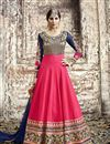 image of Pink Wedding Wear Embroidered Anarkali Suit