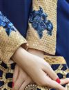 photo of Blue Long Length Georgette Anarkali Suit