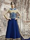 image of Blue Long Length Georgette Anarkali Suit