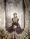 photo of Brown Wedding Wear Georgette Anarkali Salwar Suit