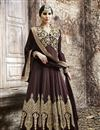 image of Brown Wedding Wear Georgette Anarkali Salwar Suit