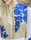 photo of Off White Wedding Wear Georgette Anarkali Suit