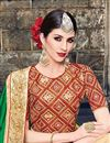 photo of Embroidered Designer Party Wear Art Silk Saree In Green And Beige Color