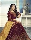 photo of Designer Georgette Party Wear Sharara Suit In Maroon With Banarasi Silk Dupatta