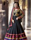 image of Black Color Floor Length Embroidered Anarkali Salwar Suit in Georgette Fabric