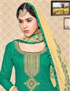 photo of Lovely Party Wear Green Color Designer Suit In Cotton Fabric
