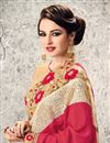 photo of Graceful Pink Color Designer Georgette And Net Festive Wear Saree With Unstitched Bangalori Silk And Net Blouse