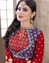 photo of Mouni Roy Red Color Cotton Suit