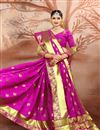 photo of Festive Wear Weaving Work Saree In Cotton Fabric Magenta