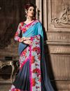 image of Grey Casual Wear Fancy Georgette Saree