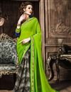 image of Green Georgette Casual Printed Fancy Saree
