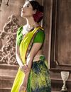 photo of Green Georgette Fancy Print Saree